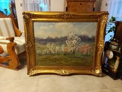 Bosznay István hatalmas festménye! 105x135cm!