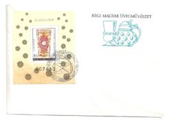 Régi Magyar Üvegművészet bélyeg blokkon