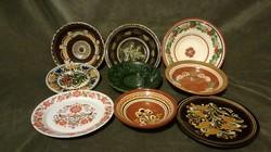 Kerámia fali tányérok 9db
