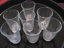 Retro sugaras aljú féldecis salgótarjáni poharak