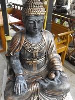 Ritka Csodás Gyógyító Thai földi Kő Buddha 66cm Feng shui  Fagyálló műkő szobor