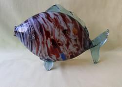 Retró! üveg hal (nagy!)