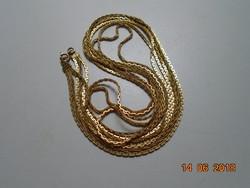 3 soros aranyozott hosszú nyaklánc 80 +77+75 cm