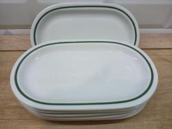 Alföldi porcelán 22cm ovális kínáló zöld csíkkal