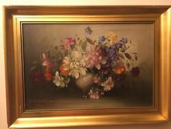 Bokor Imre gyönyörű virágcsendélete .