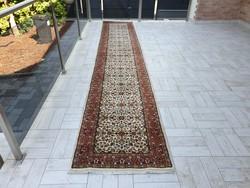 Csodálatos 84x460 kézi csomózás gyapjú perzsa futó szőnyeg MK_02 ingyen posta