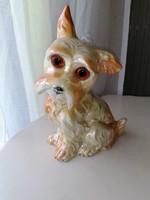 Régi nagyon szép euzenos kutya lámpatest.
