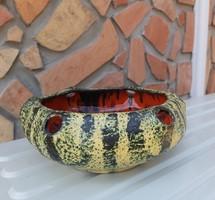 Gyönyörű Retro Pesthidegkúti kerámia  kaspó, nosztalgia darab  Gyűjtői szépség falusi dekoráció