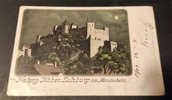 Hohensalzburgi erőd Holdfényben című képeslap 1904- ből!