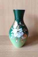 Wallendorf német porcelán váza, virágmintás motívummal
