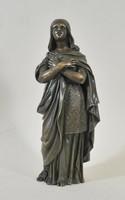 18.századi Antik női bronz szobor egy ismeretlen szentről