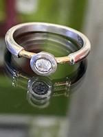 Káprázatos ezüst gyűrű cirkónia kővel