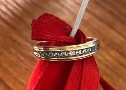 Gyémánt köves arany gyűrű 14k 54méret
