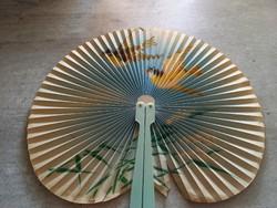 Retro, vintage, kínai, madármotívumos papír legyező