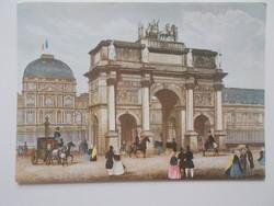 Képeslap    a régi Párizs Diadal ív posta tiszta