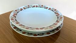 Hollóházi étkészlet virágos porcelán tányér mélytányér lapostányér retro