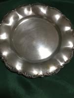 Ezüstözött kis tányér ( jelzett)