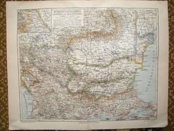 Balkán Trianon előtti térkép , eredeti 1890 -ből Osztrák Magyar Monarchia ideje