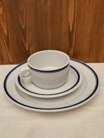 Alföldi porcelán duplakék csíkos reggeliző szett