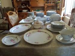 Hollóházi Hajnalka patterned 12-person tableware with many extras