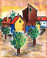 22 x 18 cm akvarell, papír