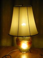 Eredeti art deco muránói üveg két égős asztali lámpa (D.R.P.)