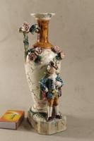 Antik fajansz barokk figurás váza 894