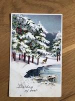 Boldog Új Évet képeslap - 1941 -es