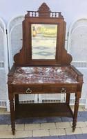 Különleges márvány lapos fésülködő asztal, mosdó szekrény