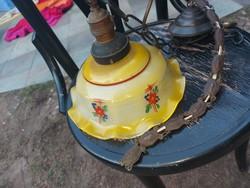 Kézzel festett lámpabúra, legnagyobb átmérője 25 cm, hibátlan!