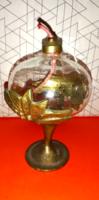 Réz mécses üveg betéttel