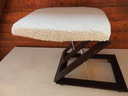 Összecsukható - harmónikaszerűen állítható retro fa lábzsámoly - lábtartó