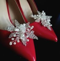 Esküvői, menyasszonyi, alkalmi cipődísz, cipőklipsz ES-CK19
