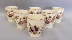Zsolnay 6 személyes pálinkás pohár készlet