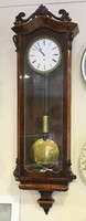 Teleszámlapos eredeti biedermeier regulátor falióra,tökéletesen működik,1 súlyos, járó