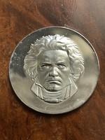 BEETHOVEN Színezüst Emlékérem, 24,7 gramm