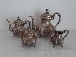 Antik ezüst teáskanna készlet
