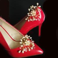Esküvői, menyasszonyi, alkalmi cipődísz, cipőklipsz S-CK02-1 cream