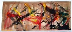 Reigl Judit (1923-2020) - absztrakt kompozíció vázlata