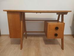 Magyar mid-century íróasztal retro asztal