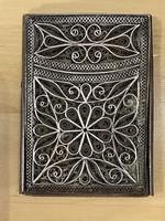 Filigrán ezüst névjegykártya tartó kártyatartó