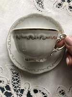 Zsolnay barokk stafír kávés csésze aljával