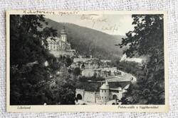 Régi képeslap Lillafüred Palota-szálló a függőkertekkel