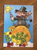 Jópofa, humoros újévi kívánságos képeslap