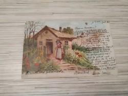 Antik Üdvözlő képeslap. (1901).