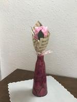 Hollóházi pink színű váza
