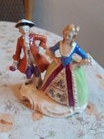 Csodaszép antik Sitzendorf barokk porcelán szobor: udvarlás