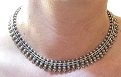 Meseszép antik ezüst nyakék!