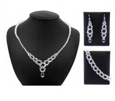 Esküvői, menyasszonyi, alkalmi ékszer szett, swarovszki kristály SSZE-SWF06-1 5328