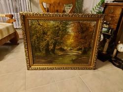 Méray Gyula antik gyönyörű festménye!
